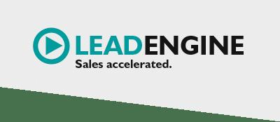 Logo LeadEngine Schräg - Leads generieren, Online Marketing, SEO, SEA, Direktmarketing und mehr